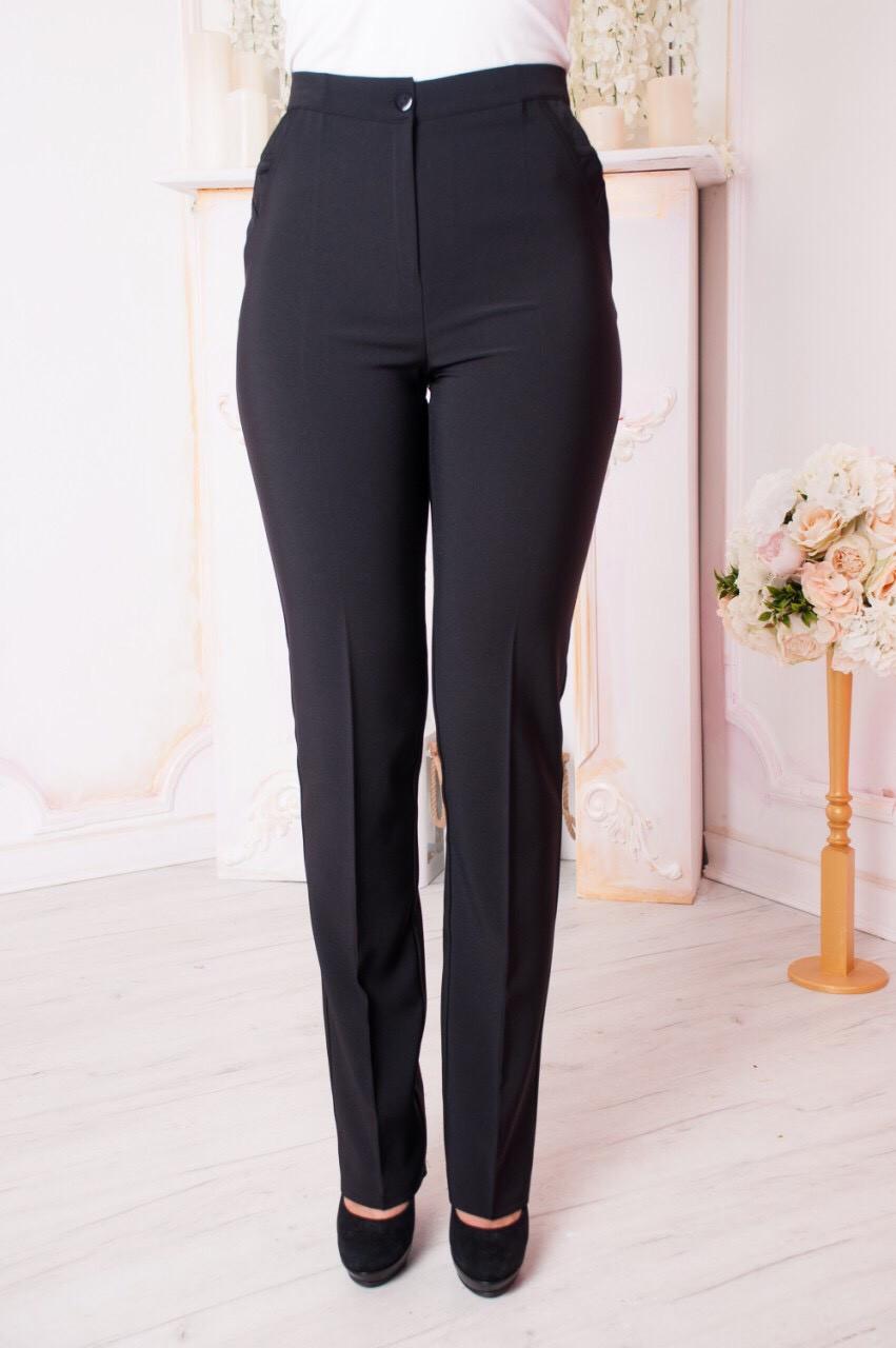 Женские брюки больших размеров Вера черные