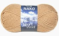 Пряжа Полушерстяная Nako Sport Wool 221 для Ручного Вязания