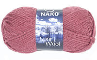 Пряжа Полушерстяная Nako Sport Wool 327 для Ручного Вязания