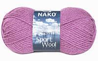Nako Sport Wool розово-сиреневый № 1048