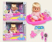 Кукла функциональная KY020923 (18шт/2) 3 вида, муз. пьет-пис,ванная, горшок,аксессуары, в кор. 32,5*22*27,5с