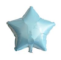 Шар фольгированный звезда ГОЛУБАЯ, 9 дюймов (23 см)