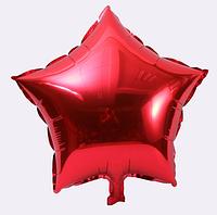 Шар фольгированный звезда КРАСНАЯ, 9 дюймов (23 см)