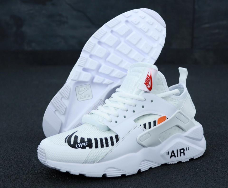 Чоловічі кросівки Nike Air Huarache Off White . ТОП Репліка ААА класу.