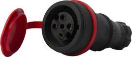 Силовая розетка переносная с защитной крышкой каучуковая e.socket.rubber.061.16, 4п., 16А E.NEXT (s9100036)