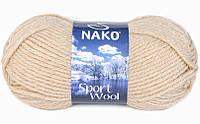 Nako Sport Wool бежевый песок  № 23116