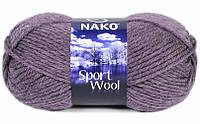 Nako Sport Wool сливовый меланж  № 23331