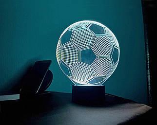 3D светильник-ночник «Футбольный мяч» 3D Creative