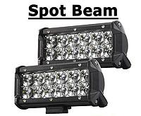 Автофара LED на крышу (12 LED) 5D-36W-spot, ЛЕД-балка автомобильная, Светодиодный автопрожектор, Автофонарь