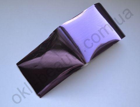 Фольга для дизайна ногтей, литья (переводная). Цвет: светло-фиолетовая (Размер: 4см на 1 метр)