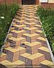 Тротуарная плитка Ромб - коричневый