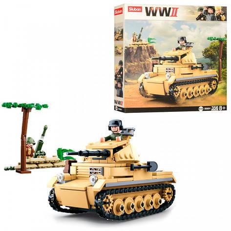 Конструктор SLUBAN M38-B0691 военный танк, фото 2