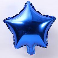 Шар фольгированный звезда СИНЯЯ, 18 дюймов (44 см)