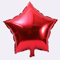 Шар фольгированный звезда КРАСНАЯ, 18 дюймов (44 см)