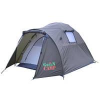 Палатка двухслойная GreenCamp 3006 двухместная