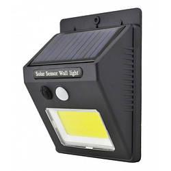 Настенный уличный Светильник UKC SH-1605 с датчиком движения и солнечной панелью