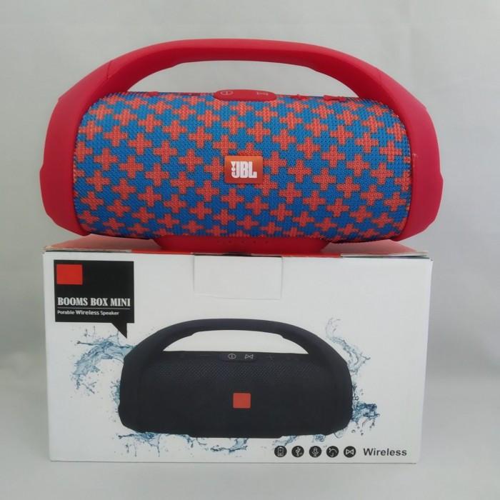 Портативна bluetooth колонка вологостійка JBL Boombox B9 mini FM, MP3, радіо Червоно-Синя