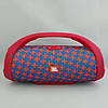 Портативна bluetooth колонка вологостійка JBL Boombox B9 mini FM, MP3, радіо Червоно-Синя, фото 2