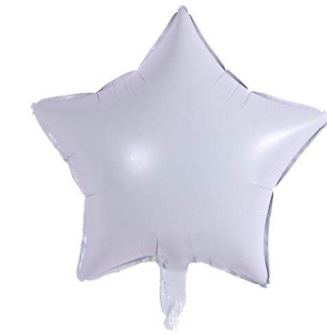 Шар фольгированный звезда БЕЛАЯ, 18 дюймов (44 см)