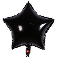 Шар фольгированный звезда ЧЕРНАЯ, 18 дюймов (44 см)