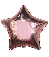 Шар фольгированный звезда РОЗОВОЕ ЗОЛОТО, 18 дюймов (44 см)