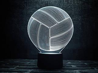 """3D ночник """"Волейбольный мяч"""" 3DTOYSLAMP"""