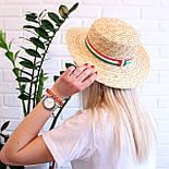 Летняя соломенная шляпа канотье, фото 4