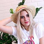 Летняя соломенная шляпа канотье, фото 2