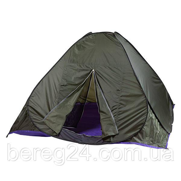 Палатка-автомат зеленая HX-8135 двухместная
