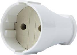 Гнездо штепсельное e.socket.001.10.white, без з/к 10А 250В, белый E.NEXT (p017001)