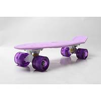 Скейт Zelart 5672-16 Original LED лиловый (0078)
