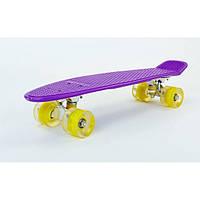 Скейт Zelart 5672-3 Original LED фиолетовый (0079)