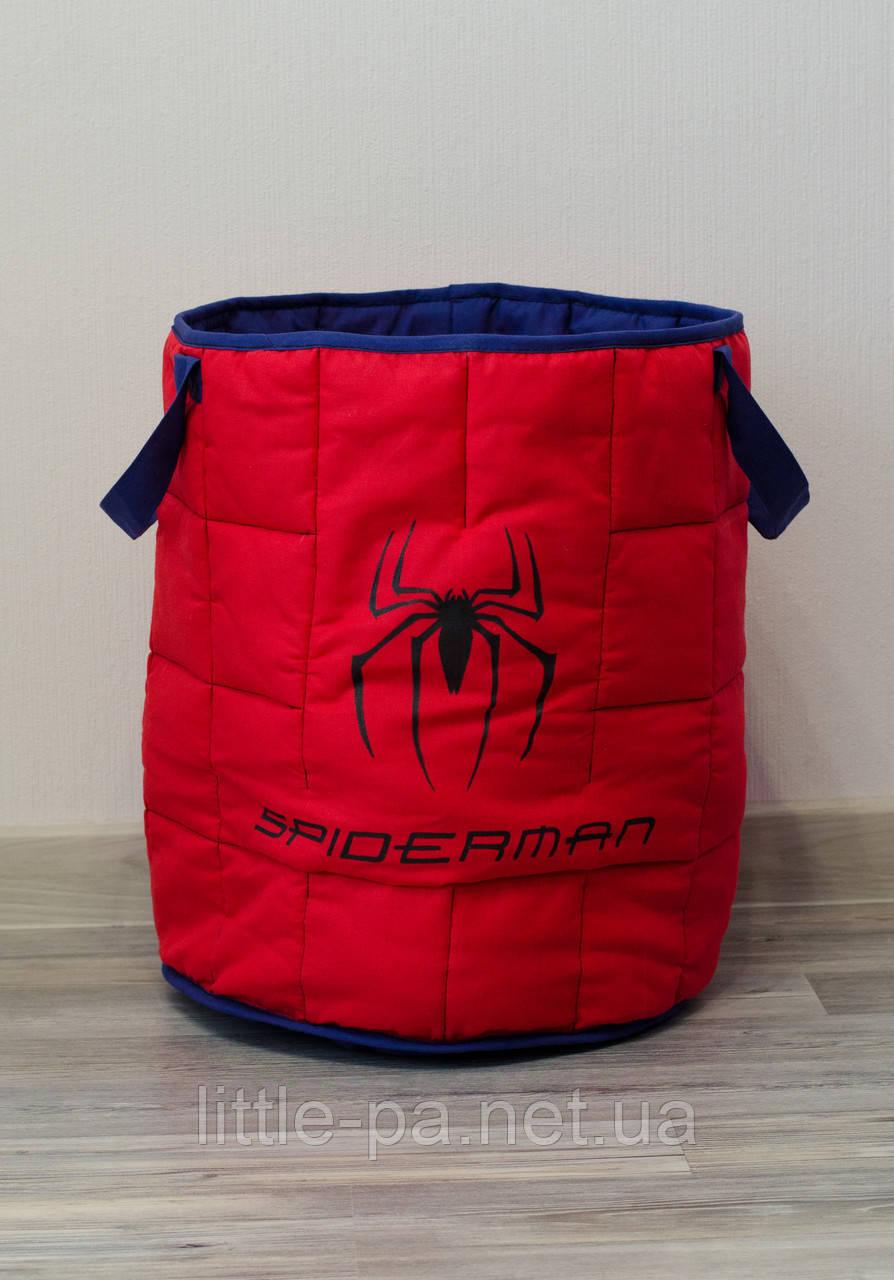 Большая мягкая корзина для игрушек  «Spider-Man»