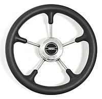 Рулевое колесо Pretech нержавейка 32 см черное, фото 1