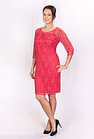 Женское платье кораллового цвета