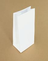Пакеты бумажные подарочные фасовочные чай кофе мука крупа сухофрукт 85х65х190 с плоск дно (крафт белый 70г/м2)