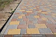 Тротуарная плитка Старая площадь 80 мм - персиковый