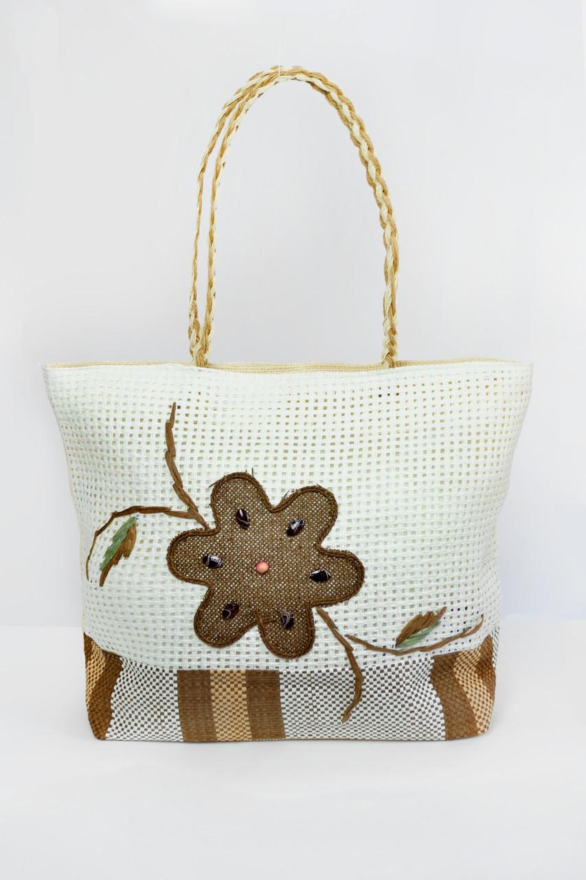 c32d2e2347c5 Пляжные сумки Famo Пляжная сумка Паттайя молочная 45х11 см - 135452 -  Marylu-market в