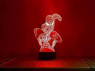 3D светильник-ночник «Человек паук» 3D Creative
