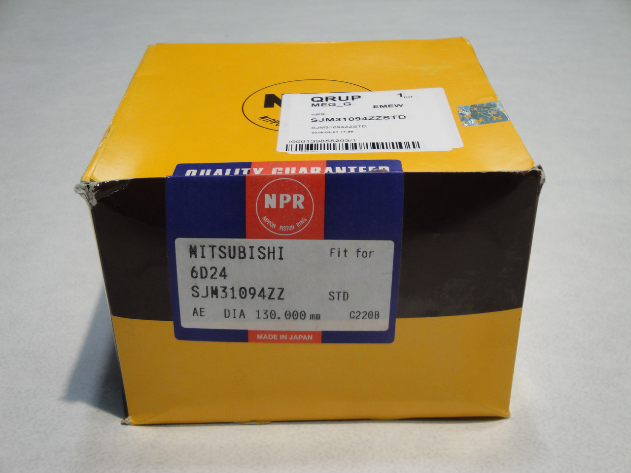 Кольца поршневые MITSUBISHI SAFIR (MITSUBISHI 6D24/6D22) (ME151190/ME996391/SJM31094ZZSTD) NPR