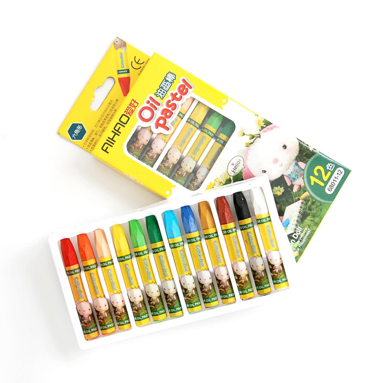 Олійна пастель для тонування фоамирана, в наборі 12 кольорів – Топ продажів!