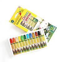 Масляная пастель для тонировки фоамирана, в наборе 12 цветов – Топ продаж!, фото 1