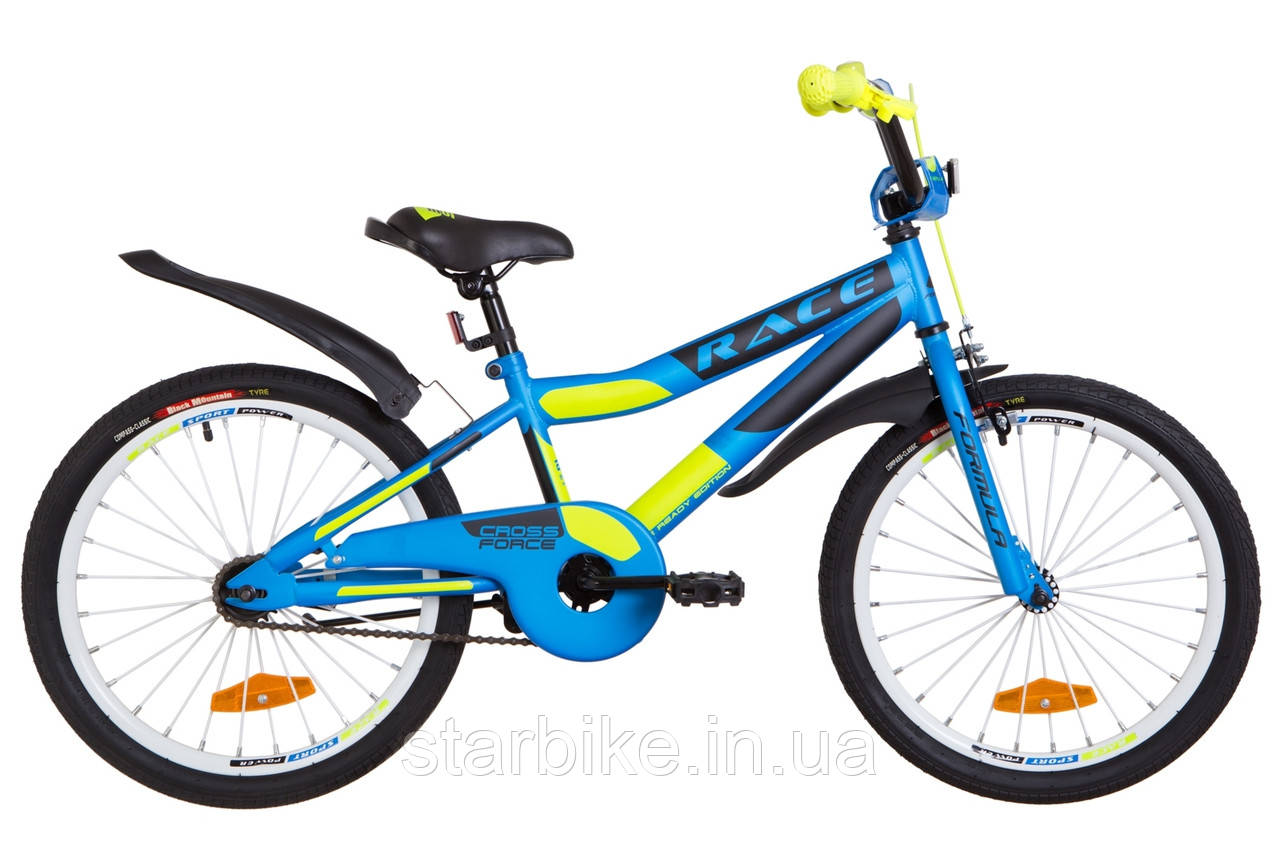 """Велосипед 20"""" Formula RACE усилен. St с крылом Pl 2019 (голубой с зеленым (м))"""