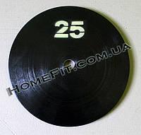 Блин (диск) стальной 25 кг (25, 30, 50 мм), фото 1