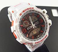 Часы наручные Casio G-Shock 3205 белые с черным циферблатом
