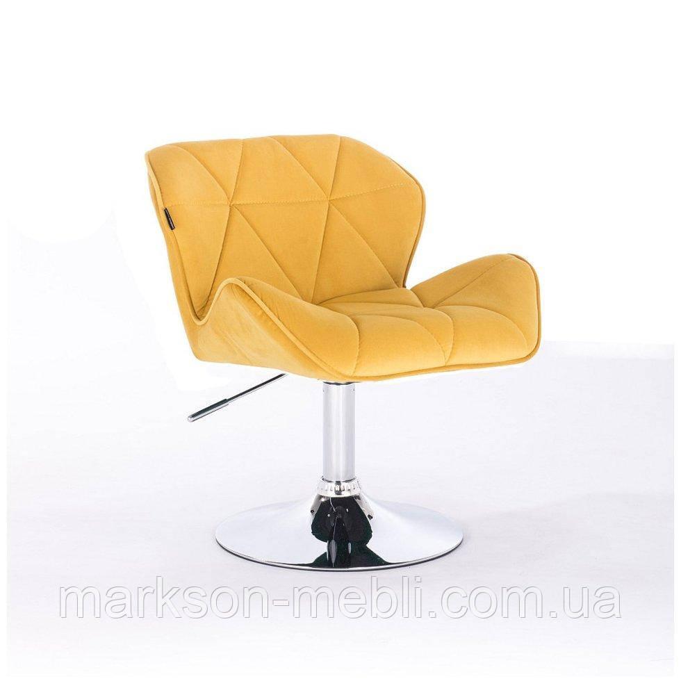 Парикмахерское кресло HROVE FORM HR111 желтый велюр
