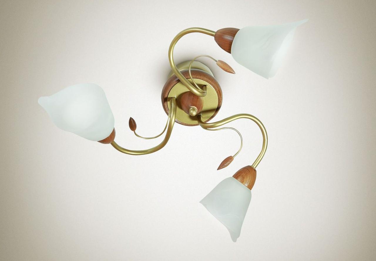 Люстра для зала, для спальни, 3-рожковая  16103