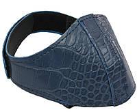 Автопятка кожаная для женской обуви синяя под рептилию 608835-9