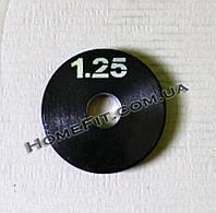 Блин (диск) стальной 1,25 кг (25, 30, 50 мм), фото 1