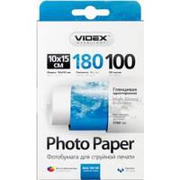 Фотобумага Videx глянцевая 10х15 180г/п, 100л